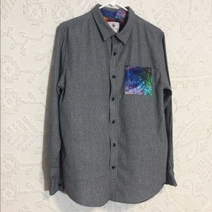 On the Byas Galaxy Pocket Button Down Shirt